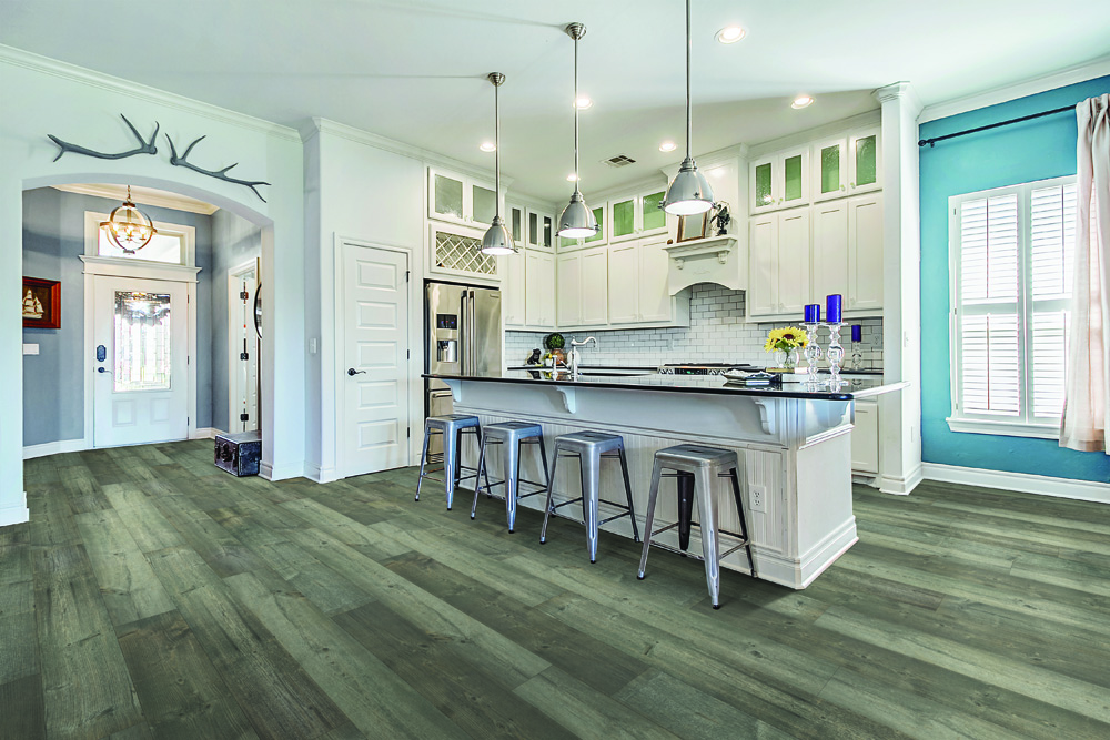 Beautiful, versatile laminate floor that is exclusive to Curtis Carpets in Winnipeg