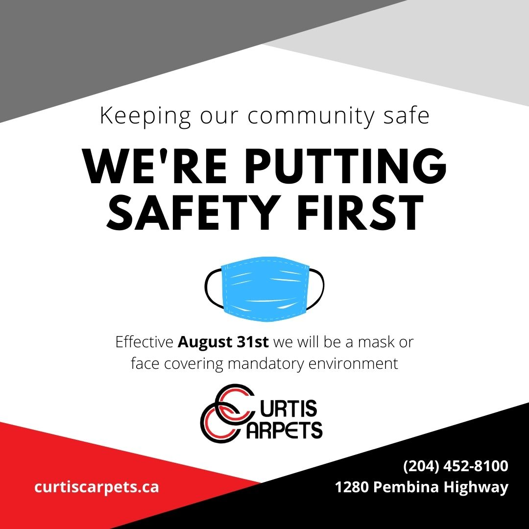 at Curtis Carpets we're putting safety first