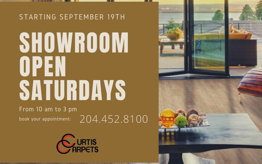 Showroom Open Saturdays
