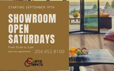 Showroom Open Saturdays