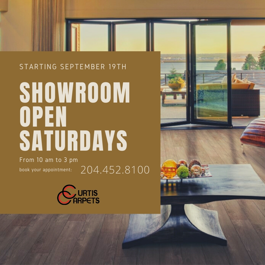Curtis Carpets is open Saturdays