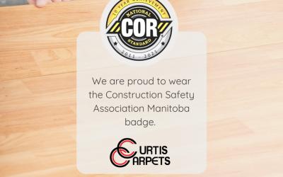 Curtis Carpets COR certification – 10 year achievement