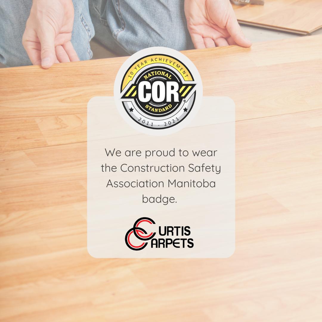 Curtis Carpets COR 10 year achievement