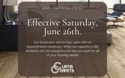 Showroom open June 26